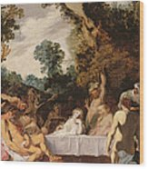 A Bacchanalian Feast, C.1617 Wood Print