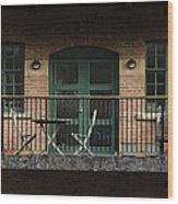 A Balcony On The River Aire Wood Print