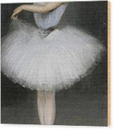 A Ballerina Wood Print