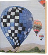 A Balloon Disaster Wood Print