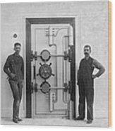 A Bank Vault Door Wood Print