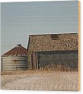 A Barn And A Bin Wood Print