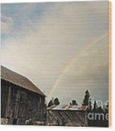 A Barn O'gold Wood Print