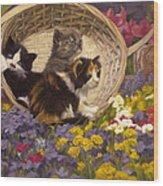A Basket Of Cuteness Wood Print