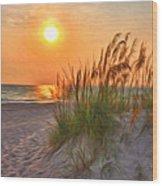 A Beach Sunset Wood Print