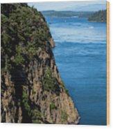 A Beautiful Landscape At Deception Pass Wood Print