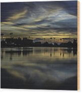 A Beautiful Sunset Over Phoenix Arizona. Wood Print
