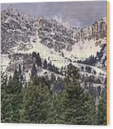 A Beautiful View Of Mount Ogden From Snowbasin 2/1 Pano Wood Print