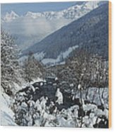 A Beautiful Winterday - Austrian Alps Wood Print