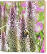 A Bee's Work Is Never Done Abwndwc Wood Print
