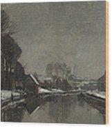 A Belgian Town In Winter Wood Print