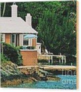 A Cottage In Bermuda # 1 Wood Print
