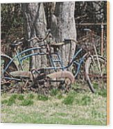 A Bicycle Built For Two Wood Print