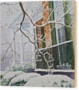 A Blanket Of Snow Wood Print by Patsy Sharpe