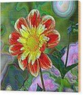 A Blooming Smile  Wood Print