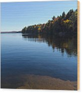 A Blue Autumn Afternoon - Algonquin Lake Tranquility Wood Print