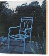 A Blue Chair Wood Print
