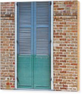 A Blue Door In New Orleans Wood Print