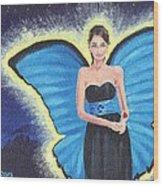 A Blue Fairy Wood Print by Glenn Harden
