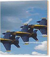 A Blue Streak Wood Print