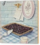 A Blueberry Tart Wood Print