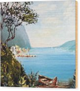 A Boat On The Beach Wood Print