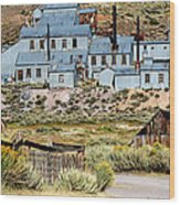 A Bodie View From Above Wood Print