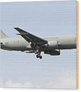 A Boeing Kc-767 Tanker Of The Italian Wood Print