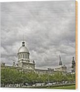 A Bonsecours Day  Wood Print