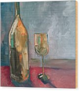 A Bottle Of White... Wood Print