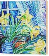 A Bouquet Of April Daffodils  Wood Print