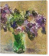A Bouquet Of Lilac Wood Print