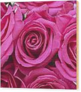 A Bouquet Of Pink Roses Wood Print