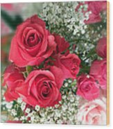 A Bouquet Of Roses For You Wood Print