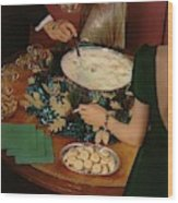A Bowl Of Eggnog Wood Print