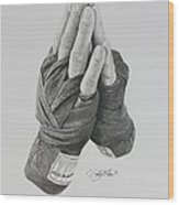 A Boxer's Prayer Wood Print
