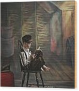 A Boy Posed Reading Old Books Victoria Wood Print