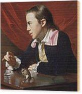 A Boy With A Flying Squirrel. Henry Pelham Wood Print