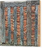 A Brick Wall Design Wood Print