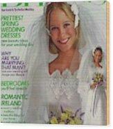 A Bride Wearing A Bill Schad Mendocino Dress Wood Print