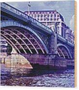 A Bridge In London Wood Print