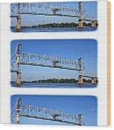 A Bridge Opening Wood Print