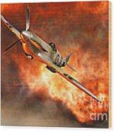 A British Supermarine Spitfire Bursting Wood Print
