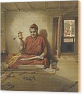 A Buddhist Monk, From India Ancient Wood Print