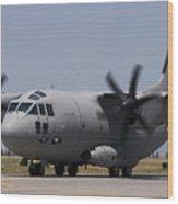 A Bulgarian Air Force Alenia C-27j Wood Print