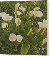 A Bunch Of Easter Sunday Easter Lillies Wood Print