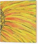 A Burst Of Yellow Wood Print