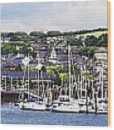 A Busy Harbour And Waterfrontkinsale Wood Print