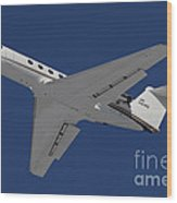 A C-20 Gulfstream Jet In Flight Wood Print