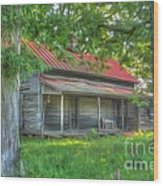 A Cabin In The Woods Wood Print